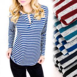 D2 Fashion ženska duga majica sa prugama - Samo 108,50 HRK