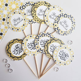 Cupcakes Toppers HAJJ Collection      10 Stück