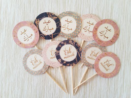 Cupcakes Toppers Gold Collection 10 Stück
