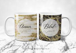 Zwei Tassen im Set - Troina Marble Collection