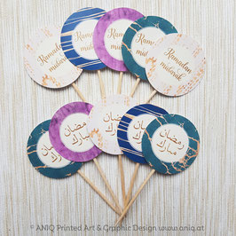Cupcake Topper Ramadan SMARAGD Collection 10 Stück