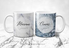 Zwei Tassen im Set - Azurro Marble Collection