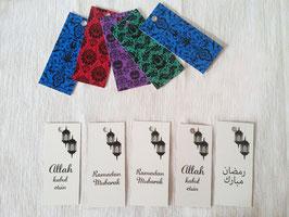 Geschenketiketten Türkisch (10 Stück)