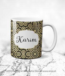 Tasse Karim Gold - Collection Marocco