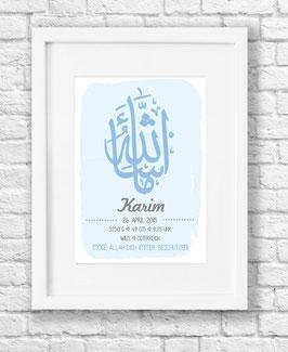 Masha Allah blau