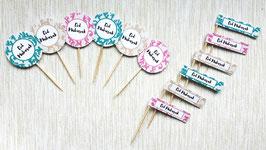 Cupcake süslemeleri 12 Adet