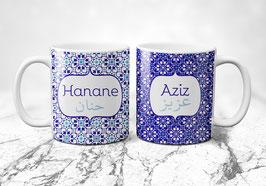 Zwei Ehetassen - Royal Blue 2 Collection Marocco