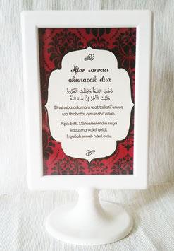 Aufsteller Bittgebet (türkisch)
