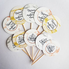 Cupcakes Toppers MARBLE Collection 10 Stück BOSNISCH