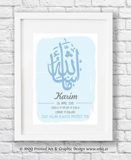 Masha Allah blue