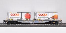 MARKLIN 47078 CARGO SBB CFF  COOP X 2 POIRE / BIRNE & POMME AFPEL