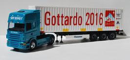 SCANIA R 500 DREIER  CONTAINER GOTTARDO SBB CFF