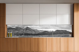 Küchenrückwand Maderhalm - Schwarzweiß