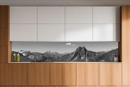 Küchenrückwand Höfats - Schwarzweiß