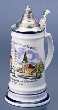 Karolingrerkrug m. Flachzinndeckel