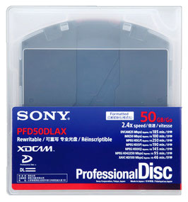 Sony XDCAM Professional Disc (PFD50DLAX) Dual Layer(2層, 95分)
