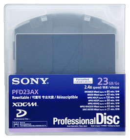 Sony XDCAM Professional Disc (PFD23AX) Single Layer(1層, 43分)