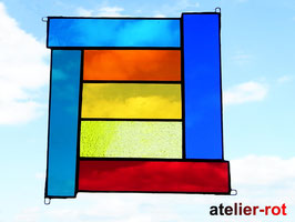 Bunte Vielfalt Tiffany Fensterbild