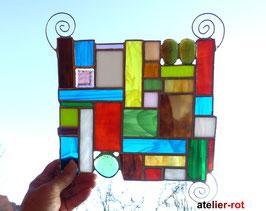 modernes Fensterbild Bunte Vielfalt Tiffany