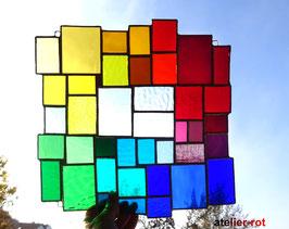 modernes Tiffany großes Fensterbild Regenbogen
