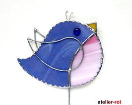 Gartenstecker süßer Vogel Tiffany