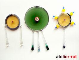 Tiffany Anhänger 3er Set Mobile aus Butzenglas
