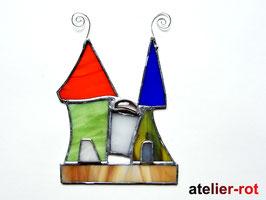 Schloß / Elfenhäuschen Tiffany Fensterbild