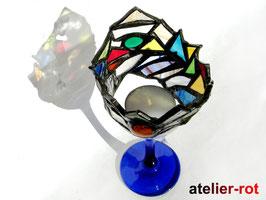 prächtiger Kelch als Teelicht Tiffany upcyceling