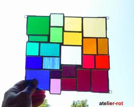 modernes Tiffany Fensterbild Regenbogen Bunte Vielfalt