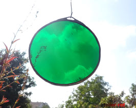Tiffany Anhänger runde Farbglasscheibe Mobile