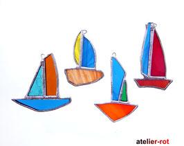 Segelschiffe 4er Set Tiffany Mobilé