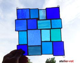 Sonnenfänger blau Tiffany Fensterbild