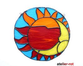 Sonne und Mond Tiffany Fensterbild