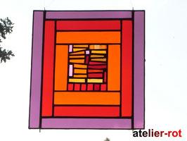 exclusives Fensterbild XL Rote Vielfalt Tiffany
