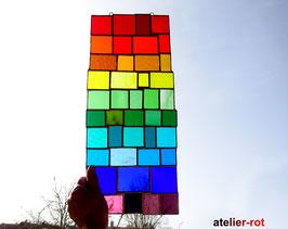 modernes Tiffany Fensterbild XL große Bunte Vielfalt Regenbogen
