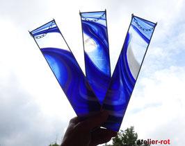 3er Set individueller Tiffany Anhänger Fensterbild