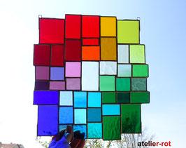 modernes Tiffany XL Fensterbild Regenbogen