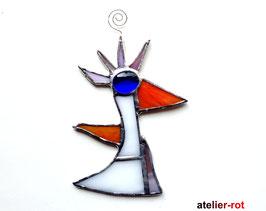 lustiger Charakter Vogel Tiffany