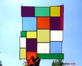 Fensterbild modernes Glasbild Regenbogen Tiffany