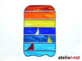 Meer + Boote Tiffany XL Fensterbild