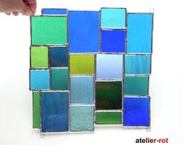 Sonnenfänger Tiffany Fensterbild  blau, türkis, grün