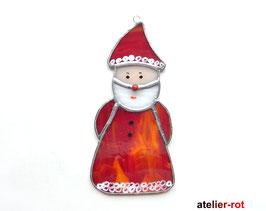 Weihnachtsmann Fensterbild Tiffany Glasbild