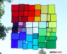 modernes Tiffany Fensterbild XXL Bunte Vielfalt Regenbogen