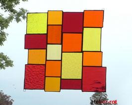 Sonnenfänger rote Vielfalt Tiffany Fensterbild