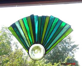 Fensterbild modernes Tiffany Fächer