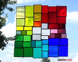 modernes Tiffany Fensterbild XL Bunte Vielfalt Regenbogen
