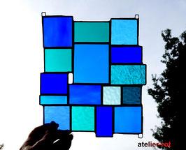 Sonnenfänger blau-türkis Tiffany Fensterbild