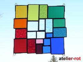 Bunte Vielfalt Fensterbild Tiffany