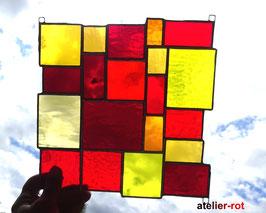 Sonnenfänger rot gelbe Vielfalt Tiffany Fensterbild