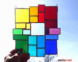modernes Tiffany Fensterbild Bunte Vielfalt